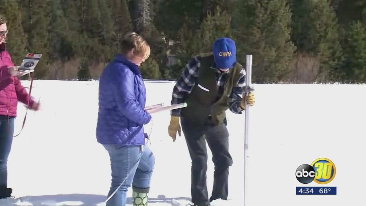 Despite gains Californias snowpack still below average
