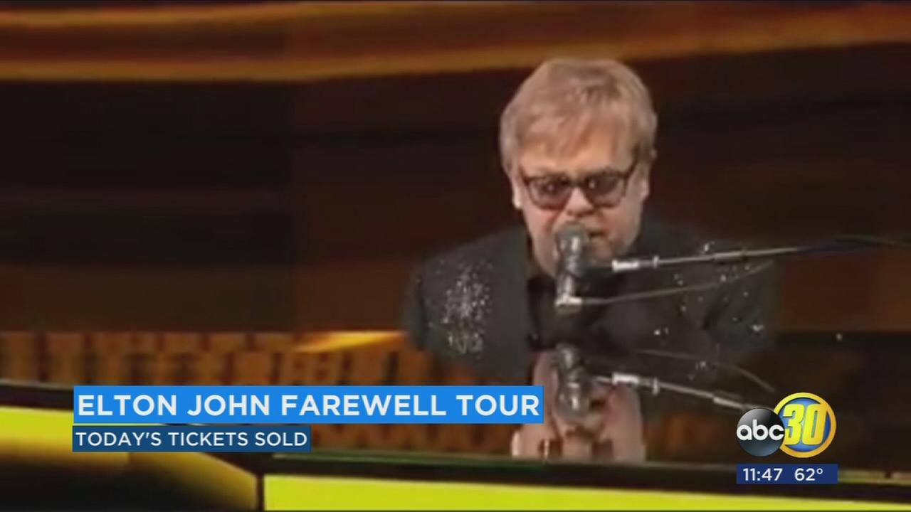 Pre-sale tickets go quick for Elton John concert at Save Mart Center