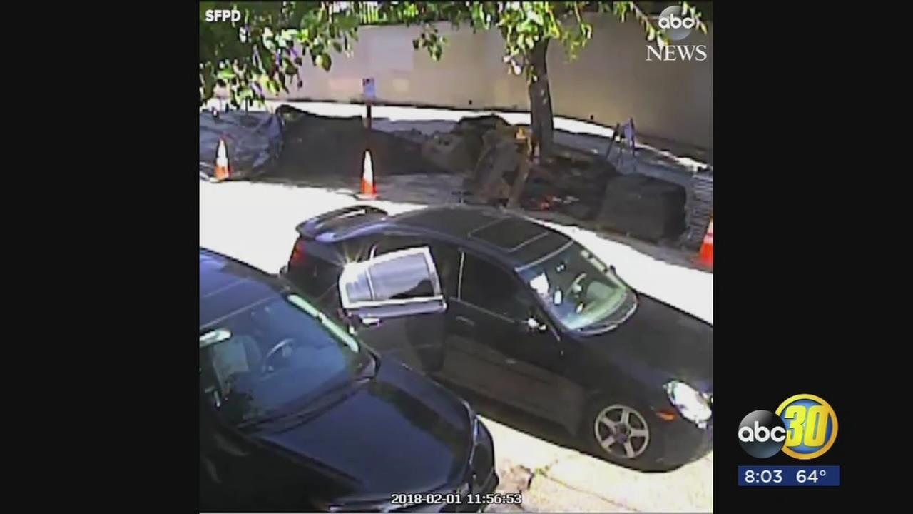 Surveillance video shows burglary suspect run over accomplice, cop in San Francisco