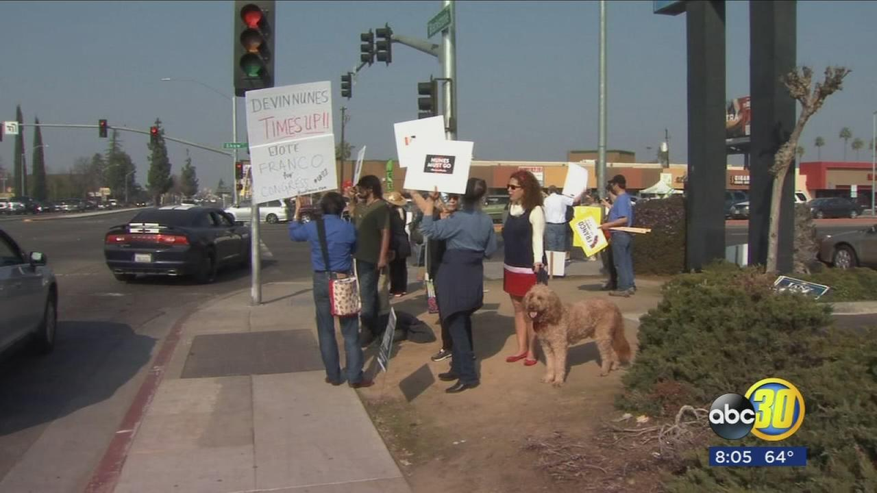 Fresno residents protest against Devin Nunes after memo release