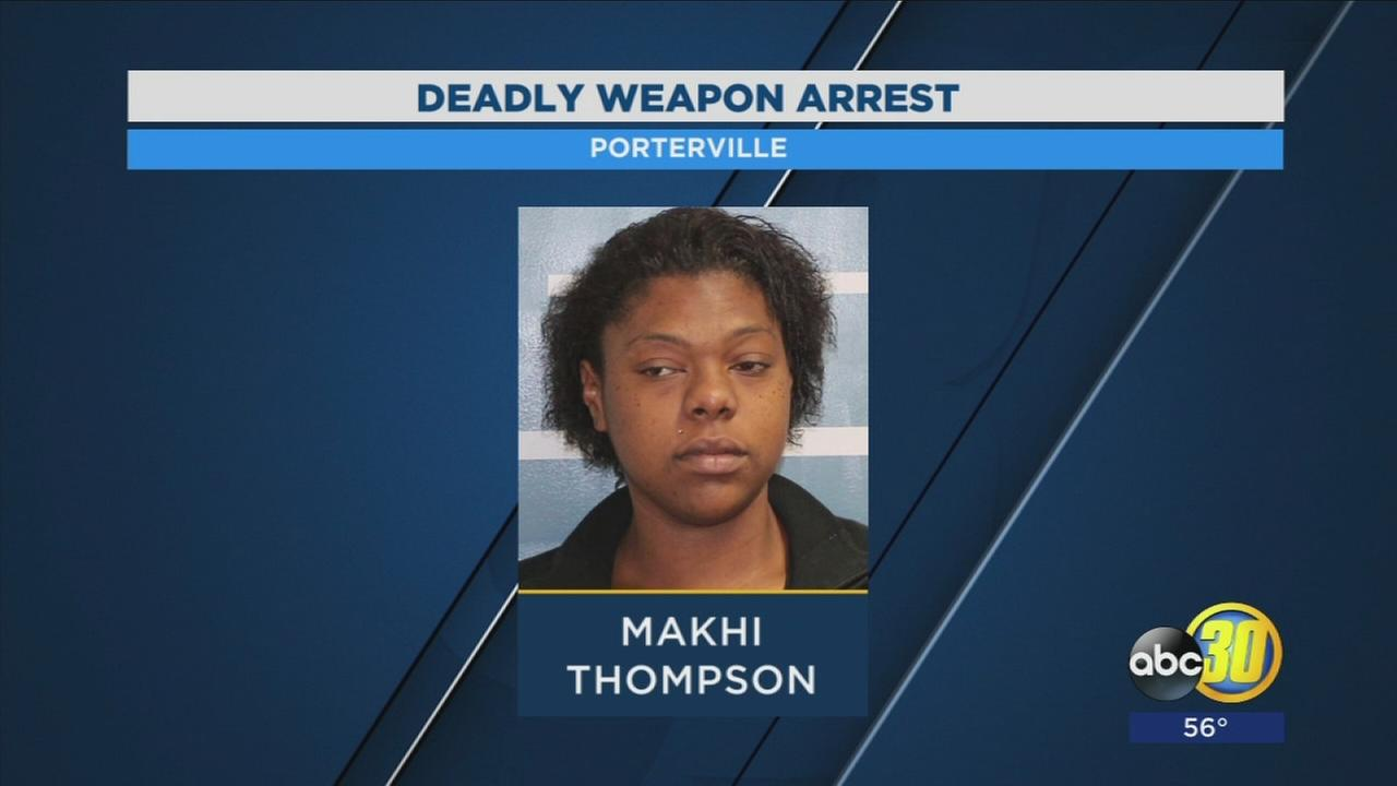 Porterville PD arrest woman for threatening employee with deadly weapon