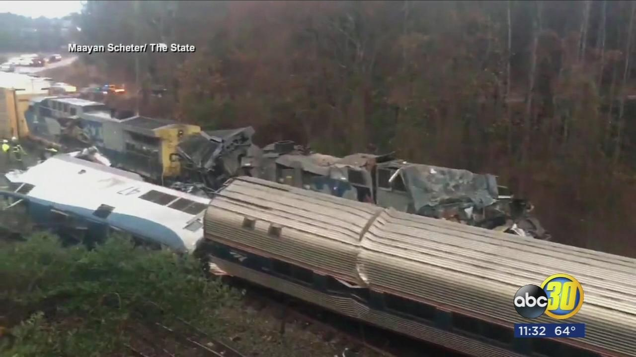 Two killed, dozens injured after two trains collide in South Carolina