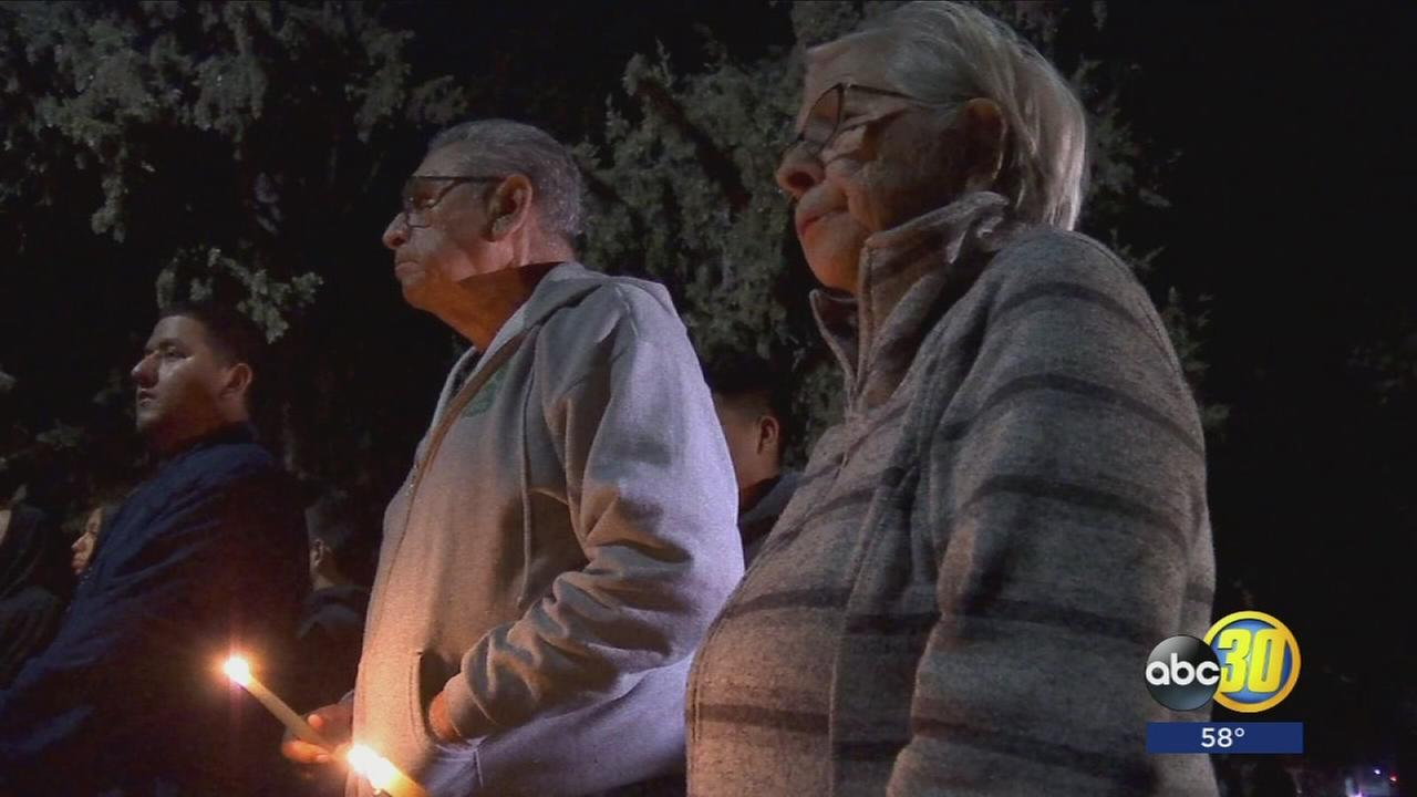 Candlelight vigil in Planada calls for peace in response to gang violence, recent deadly shootings