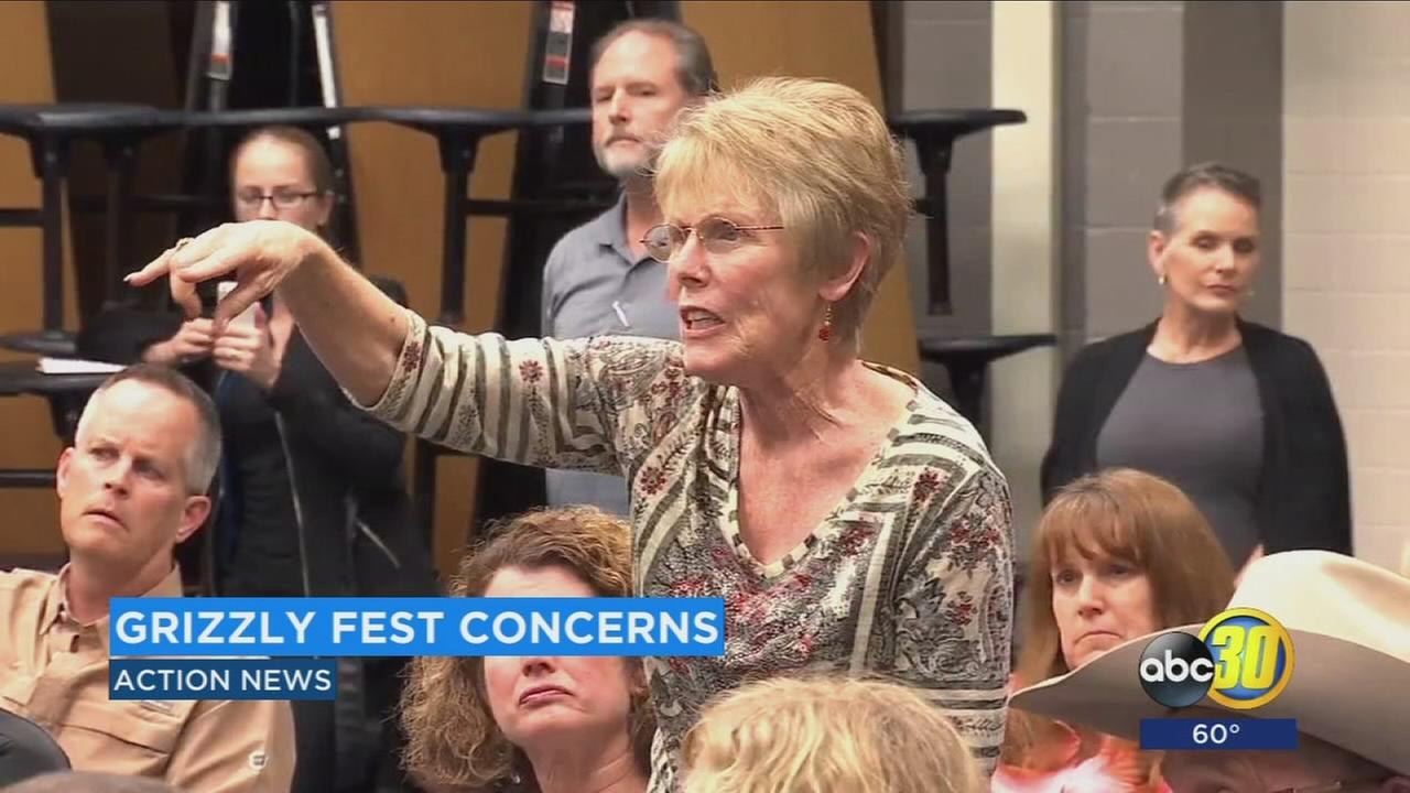 Dozens of residents voice their concerns about Grizzly Fest moving to Woodward Park