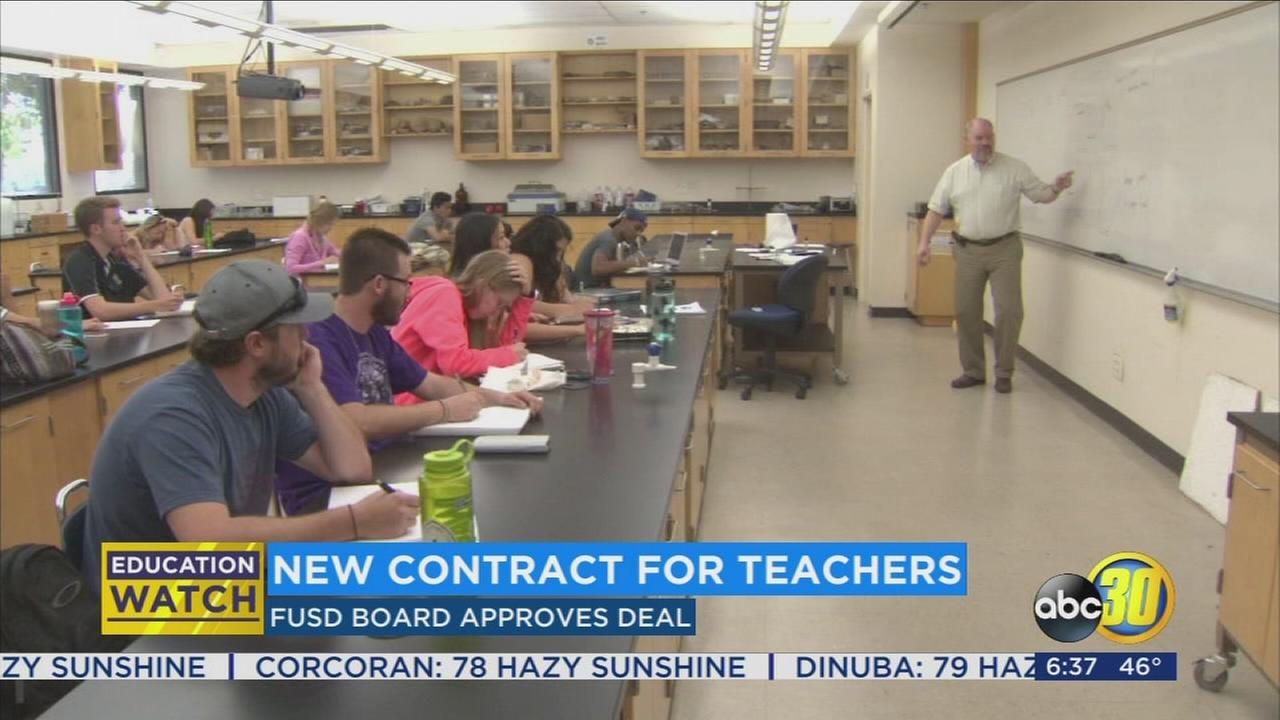 Fresno Unified School Board approves new teacher contract agreement