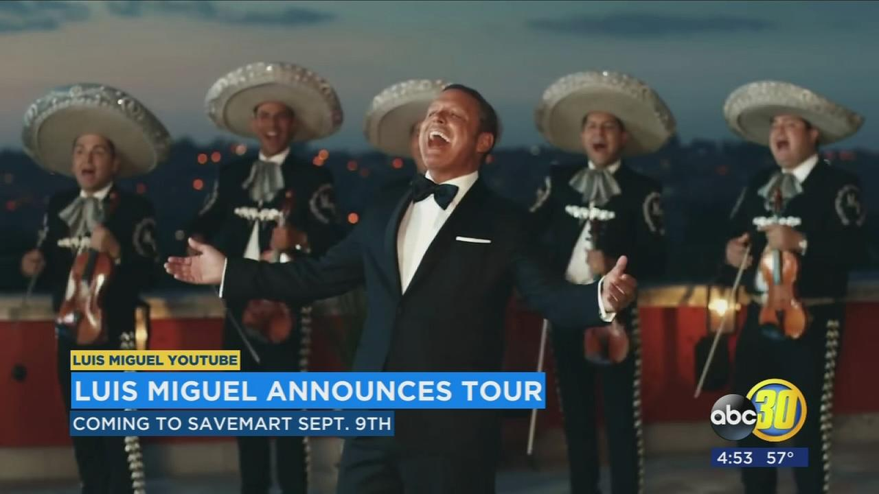 Luis Miguel announces concert at the Savemart Center