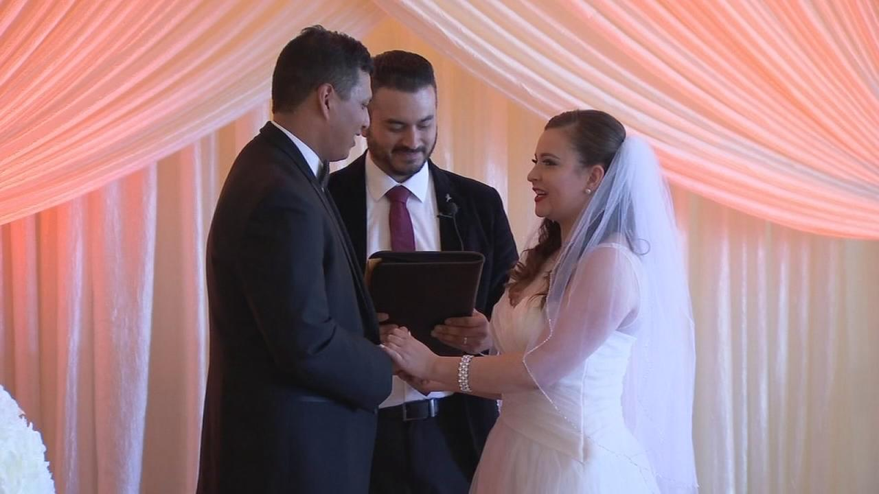Fresno business known for grand celebrations gives a couple free wedding on Valentine?s Day