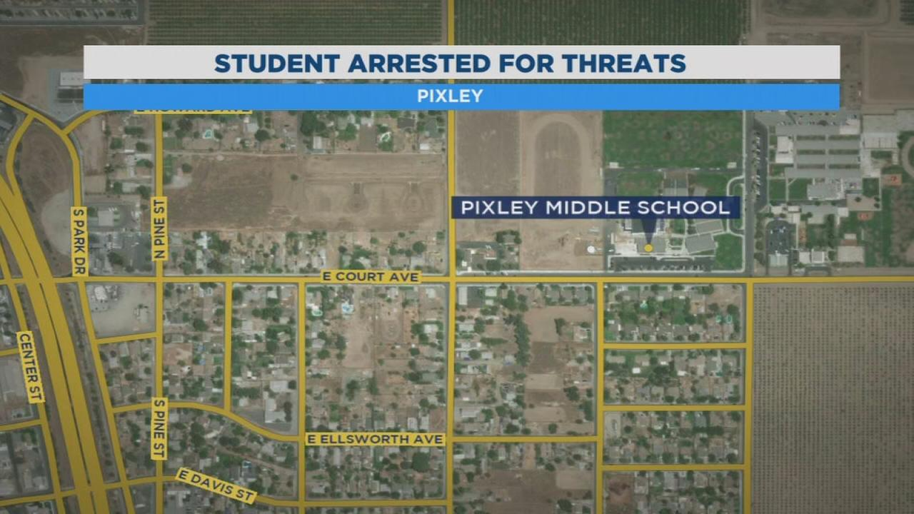 Teen arrested for school shooting threat in Pixley
