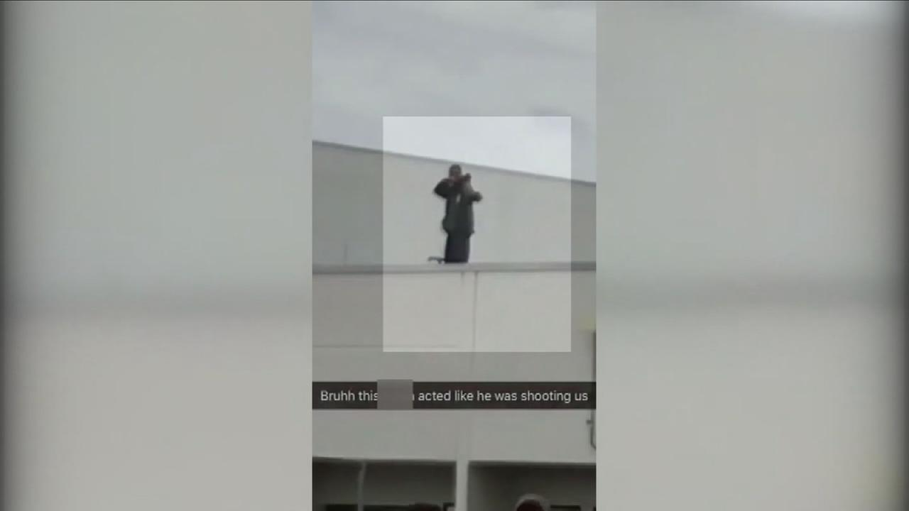 Florida security guard seen on video pretending to point gun at students