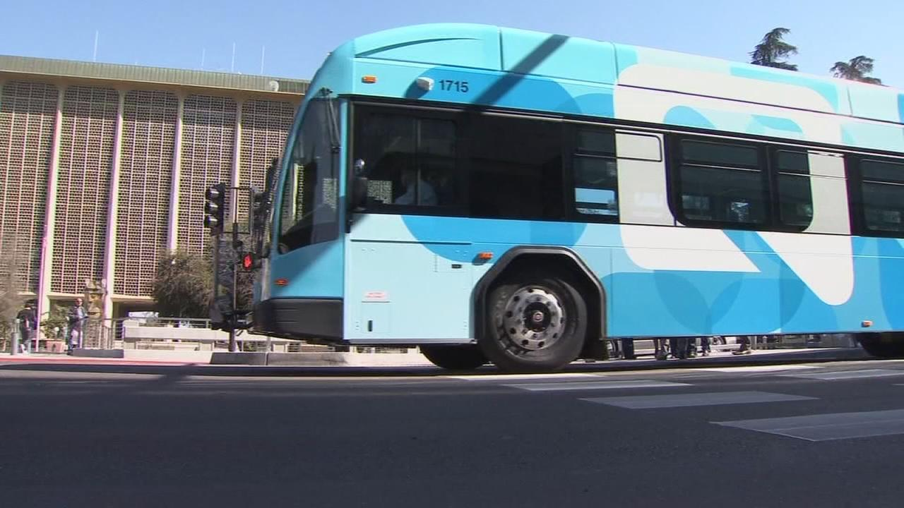 City leaders celebrate inaugural ride of the Q, Fresno?s bus rapid transit system