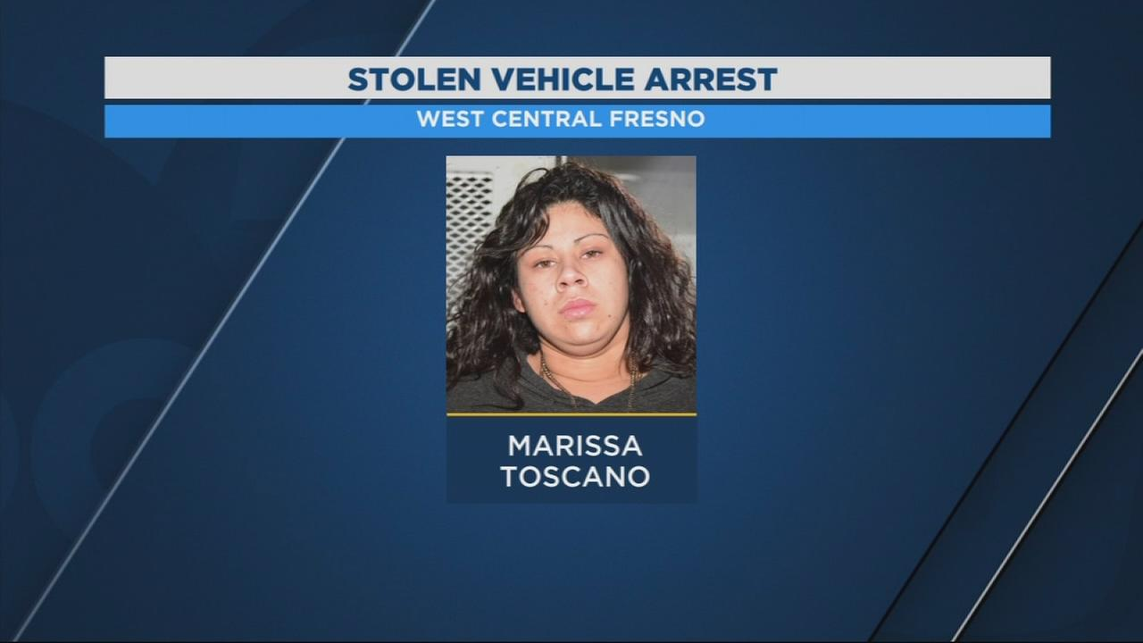 Woman arrested for driving stolen car in Southeast Fresno