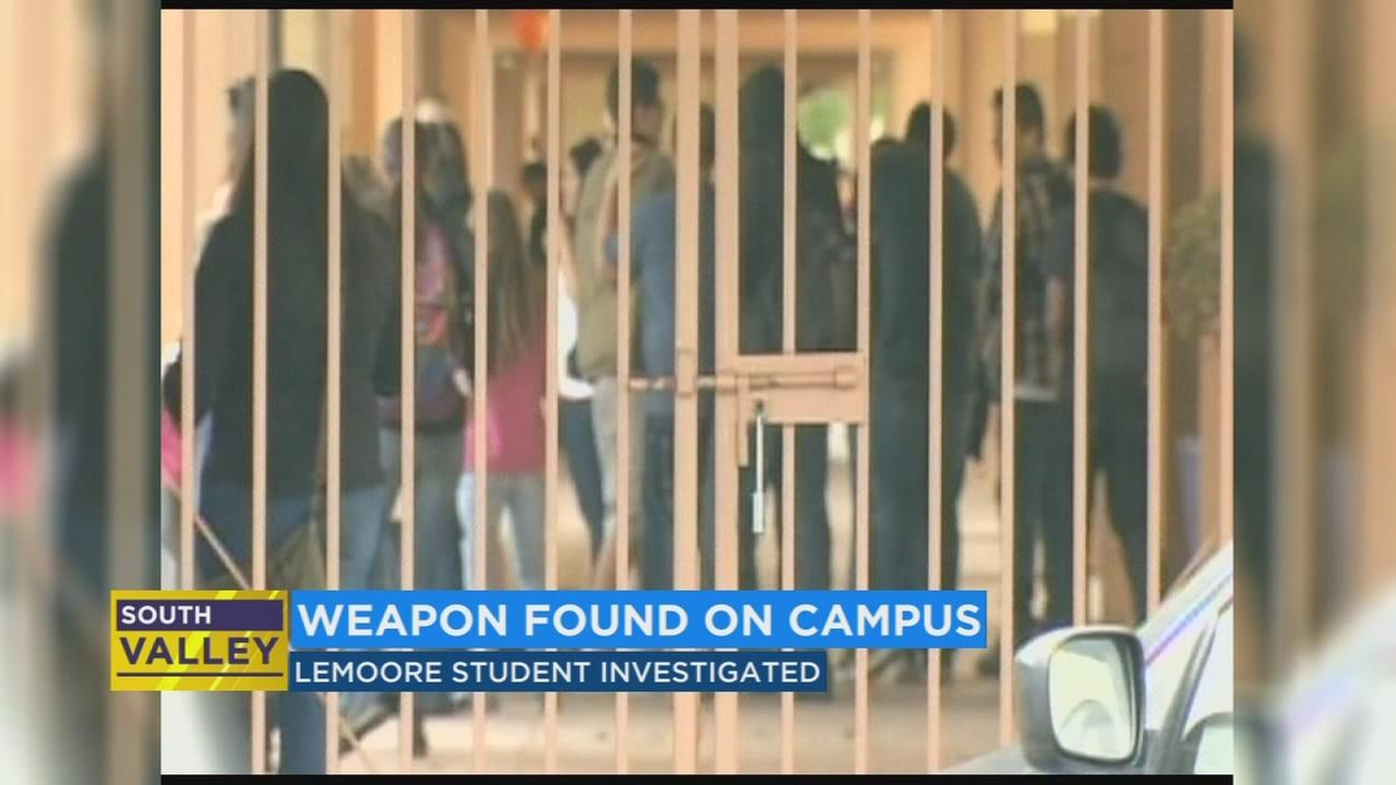 Police investigating Lemoore high student who brought a weapon to school