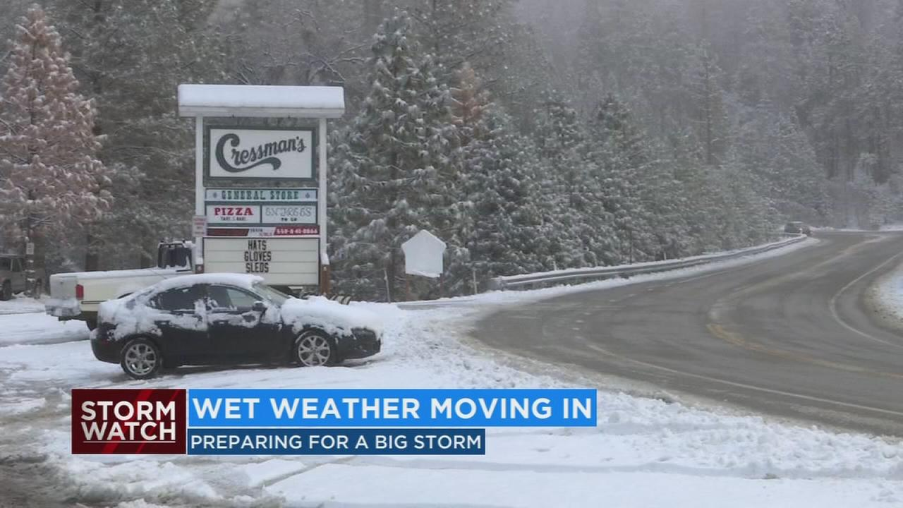 CHP and Caltrans monitoring the roads as winter storm comes in