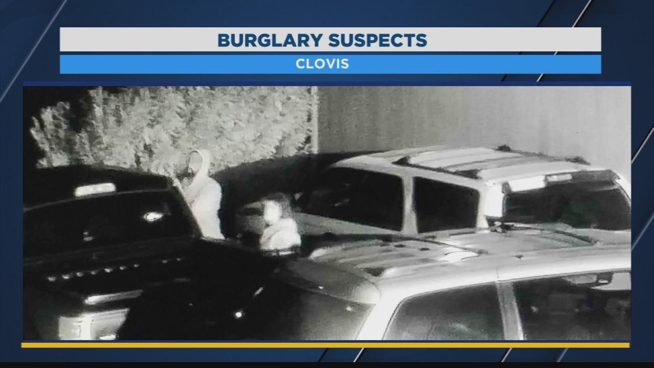 Clovis PD looking for suspects who were caught on surveillance breaking into parked car