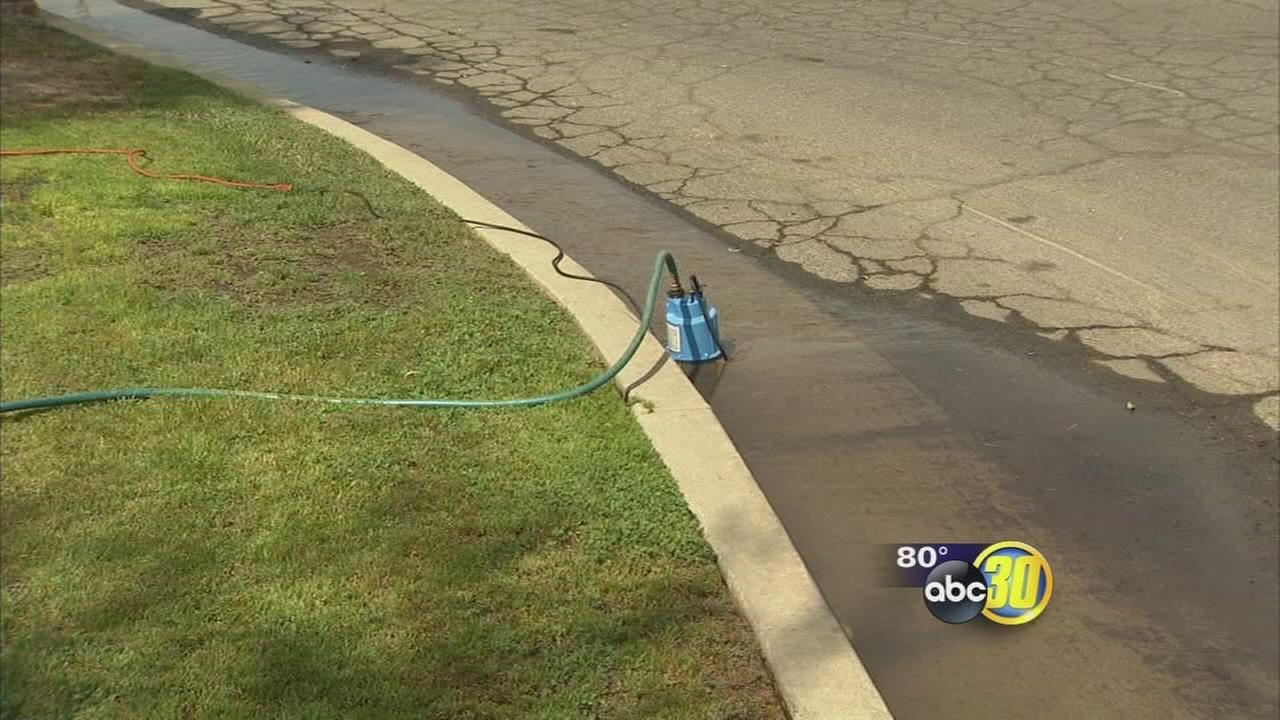 Fresno man gets creative to not waste water