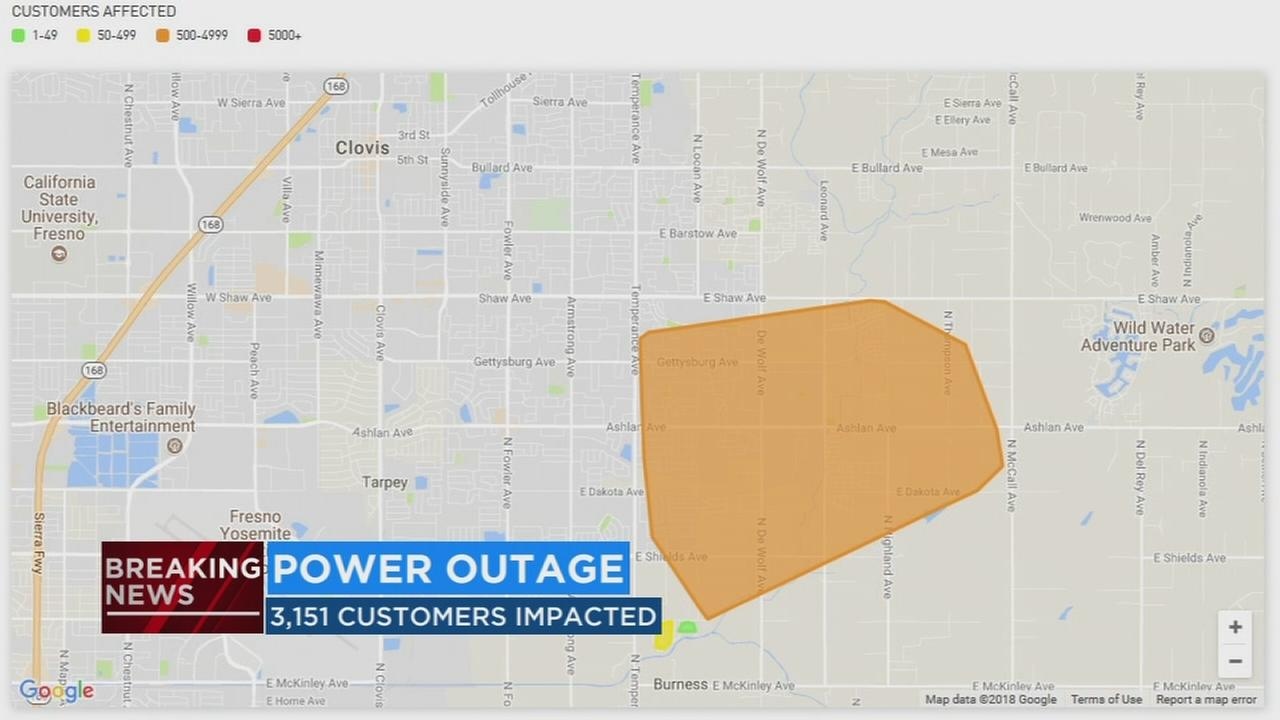 Thousand wake up without power in Clovis, Fresno County, and East Central Fresno