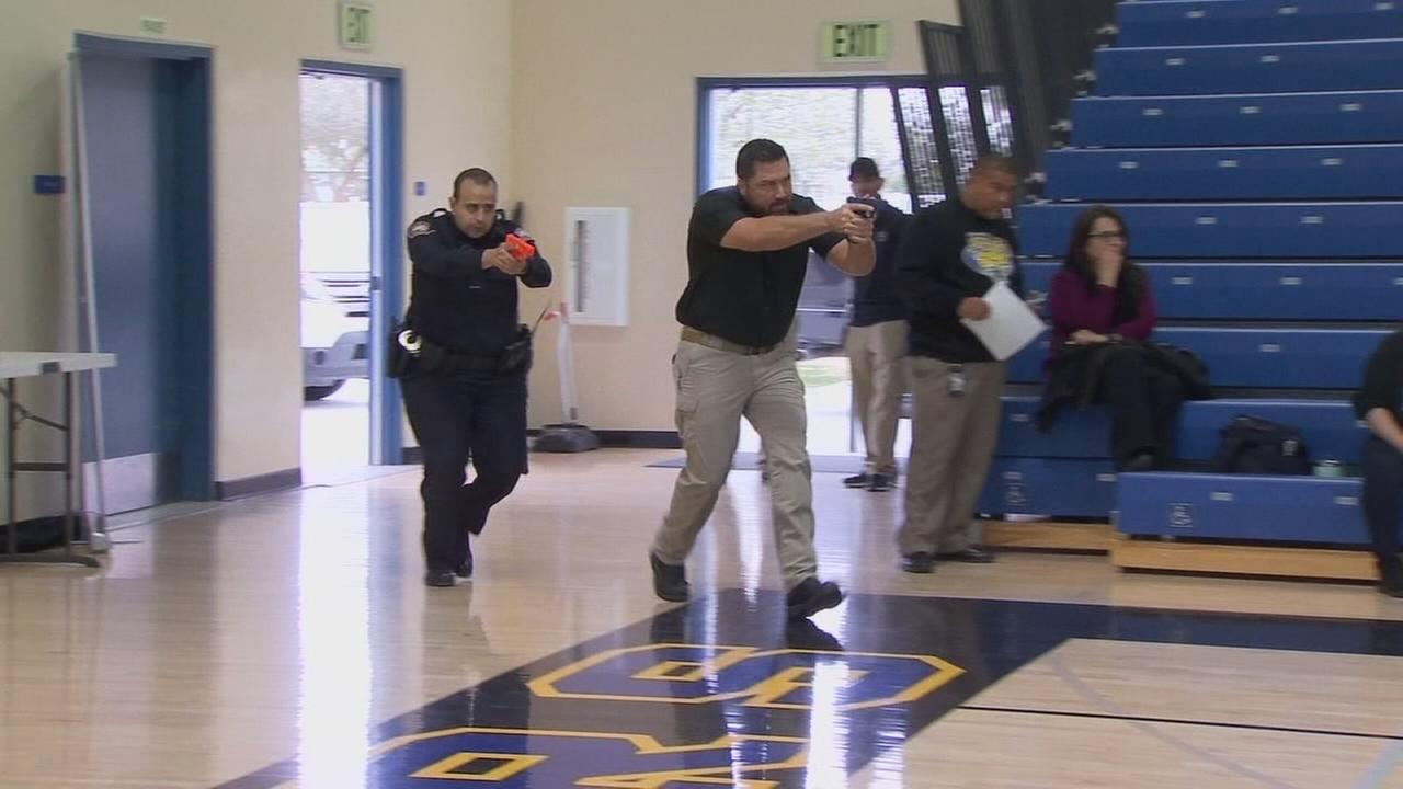 Real lockdown comes amid training for school threats