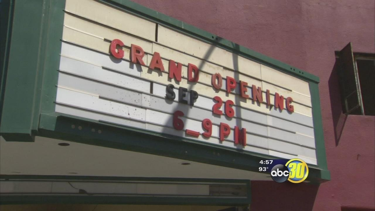 Azteca theatre in Fresnos Chinatown being restored
