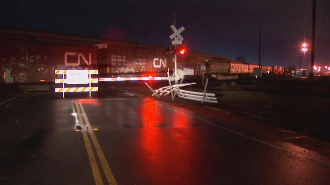 Police investigating crash involving a train and a vehicle in Southeast Fresno