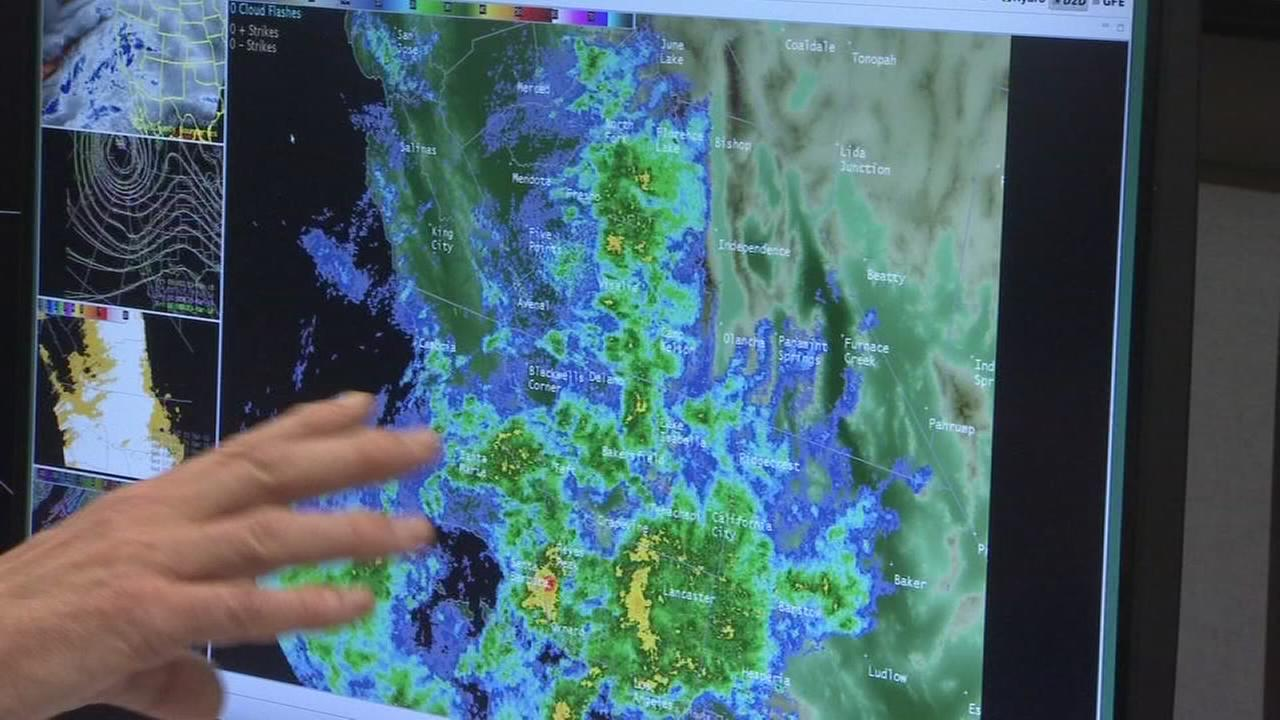 Storm moving through California bringing heavy rain and fears of flooding to the Valley