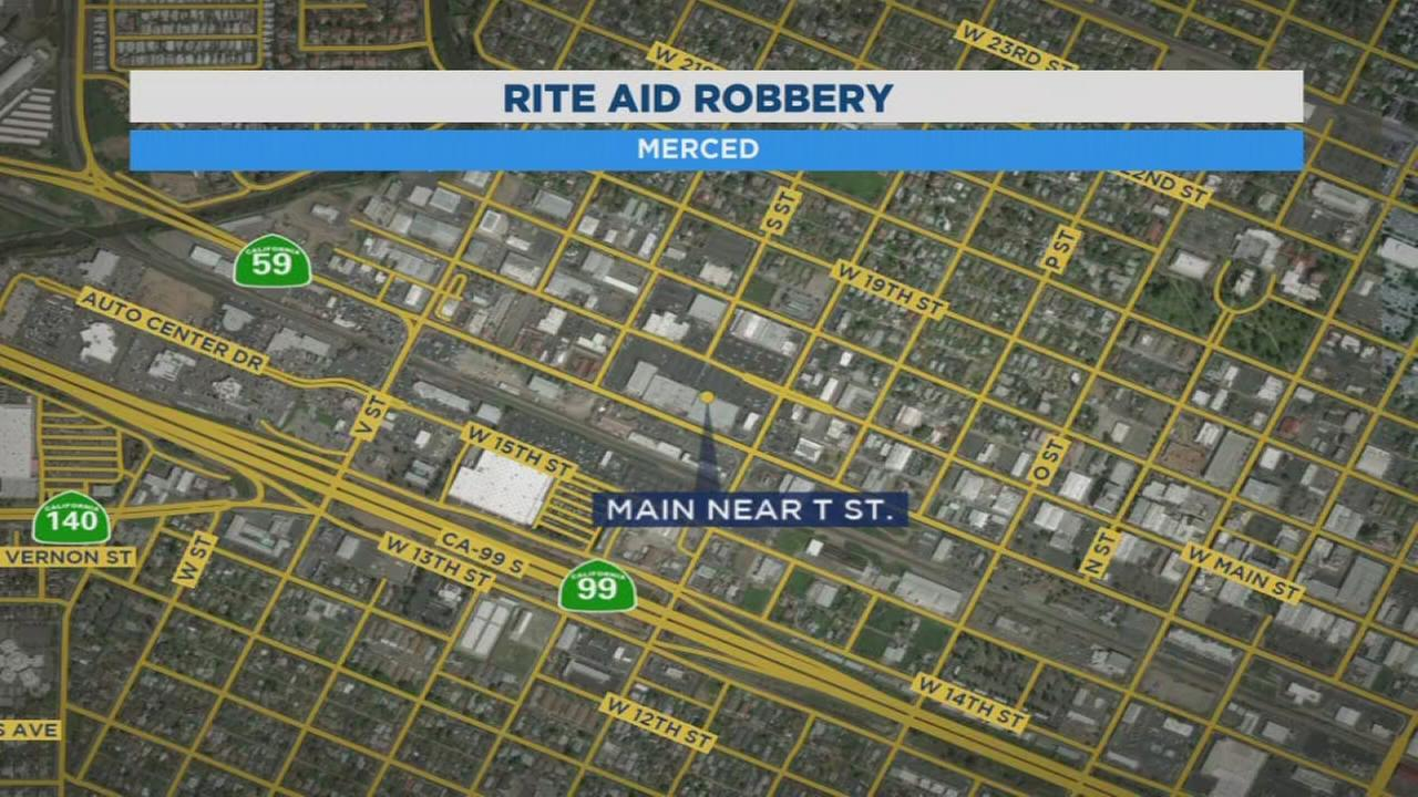 2 people arrested after they rob a pharmacy in Merced and lead police on chase