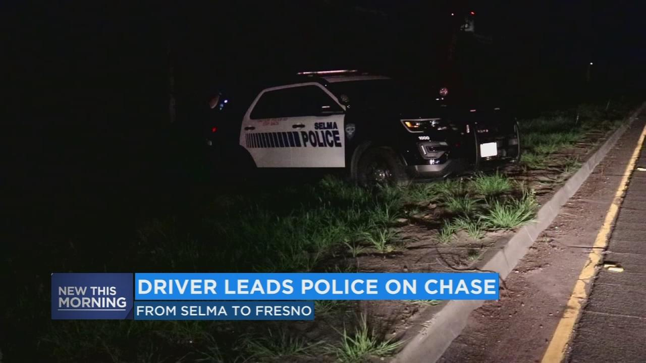 Suspect leads police on chase from Selma to Fresno