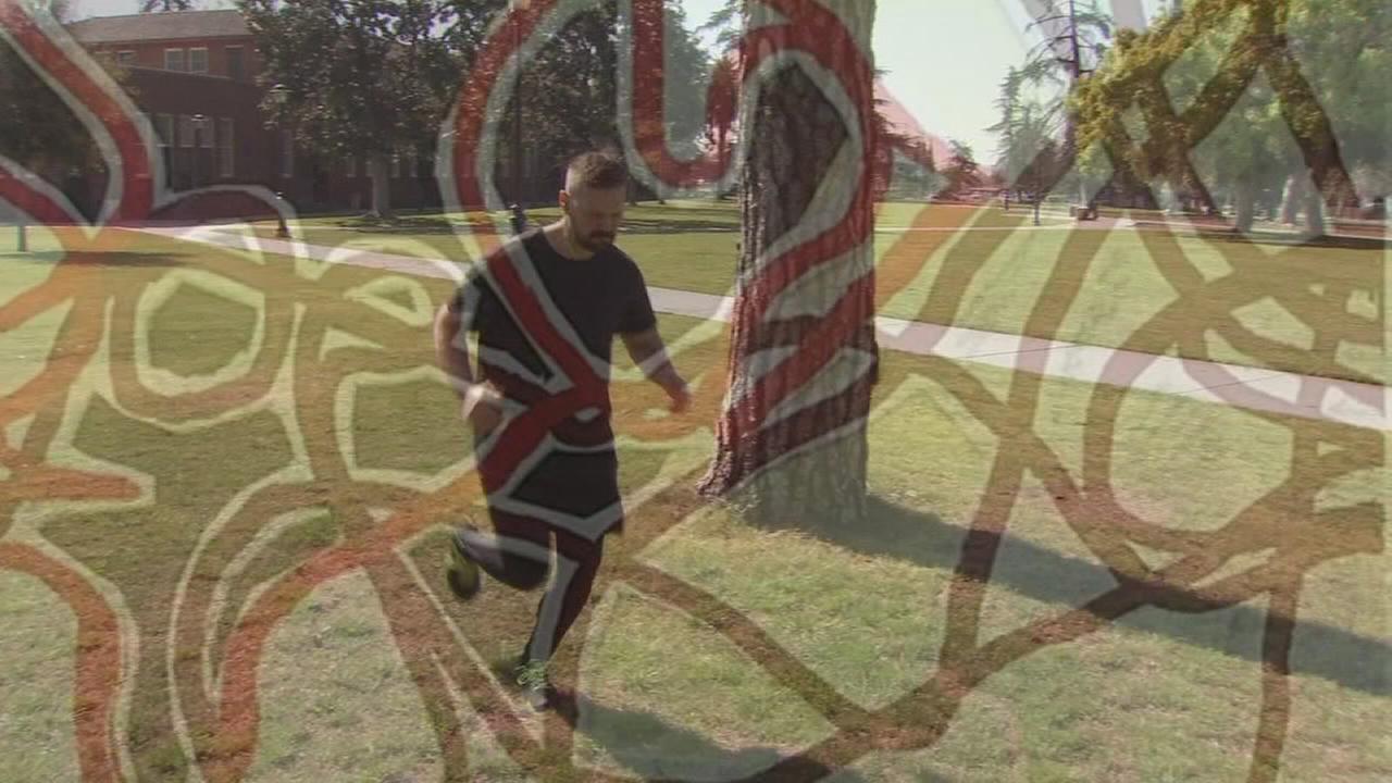 Fresno Man turning exercise into works of art