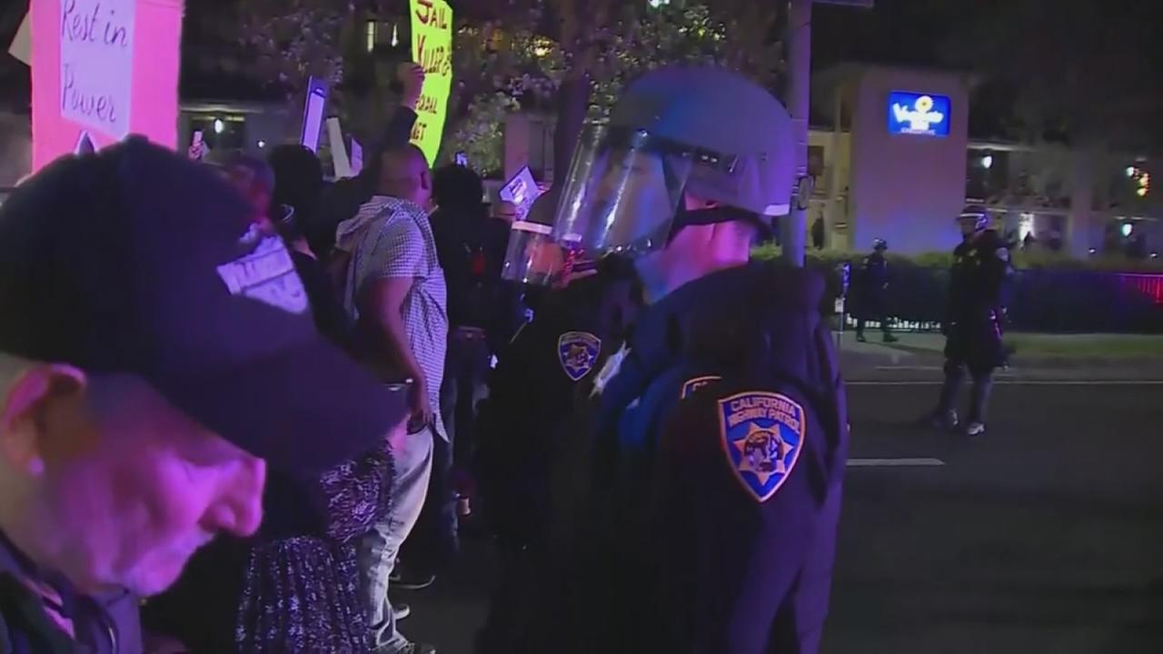 Protests erupt in Sacramento after report shows police shot unarmed man 8 times, 6 times in the back