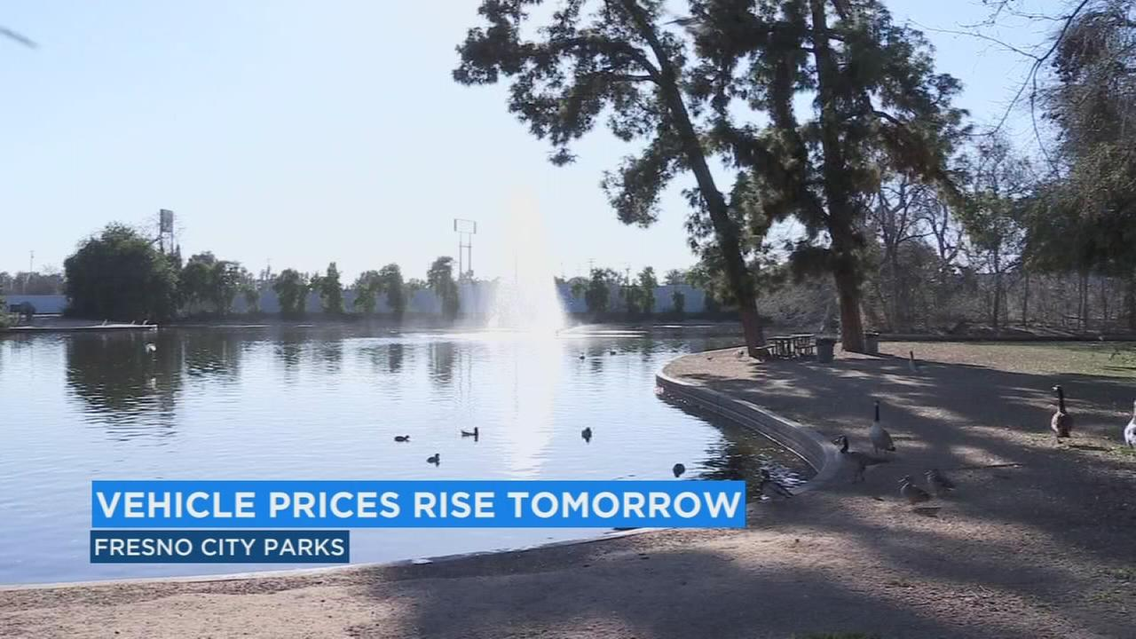 Temporary park fee increase for Easter Sunday