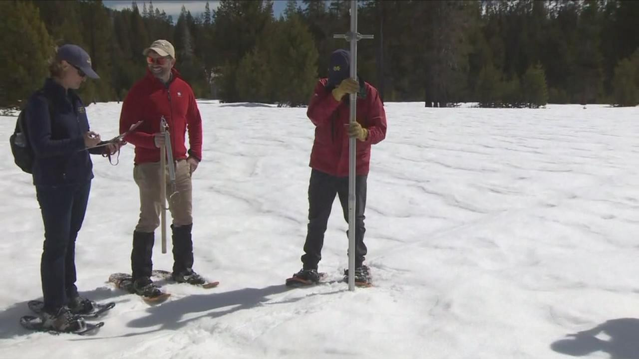 Sierra snowpack survey shows big improvement after round of storms, but still falls short