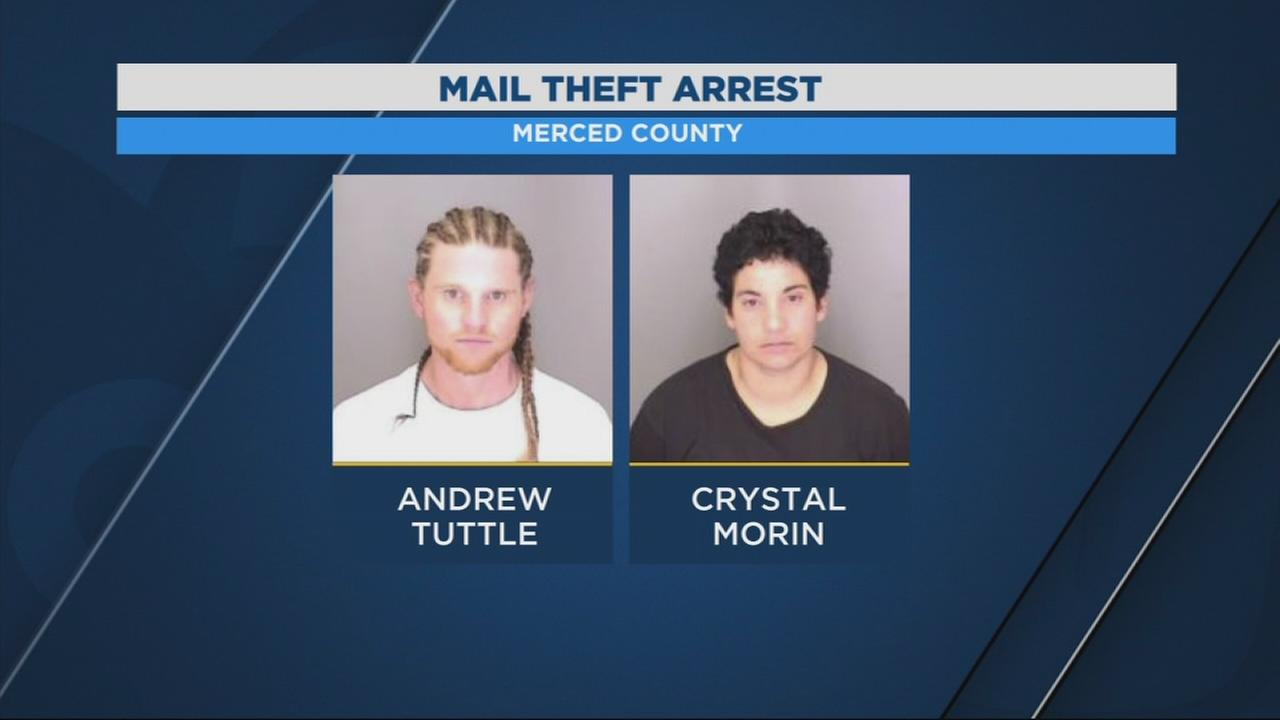 2 people arrested in Merced County for stealing mail