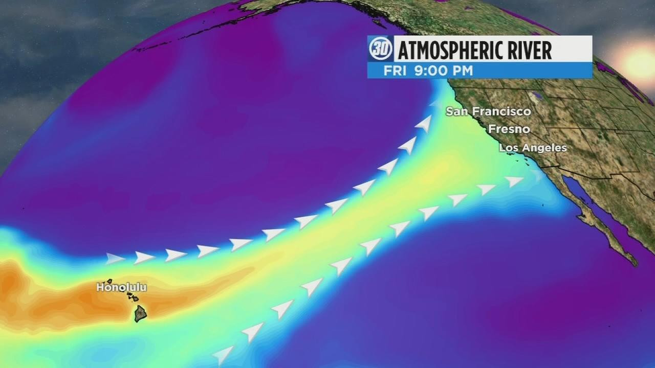 Atmospheric river to flow into Central California Friday night