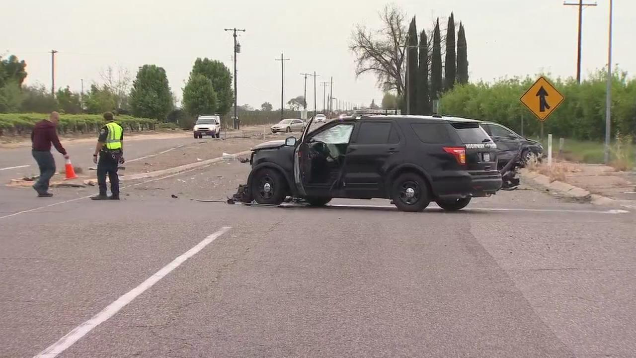 CHP officer involved in accident near Fowler