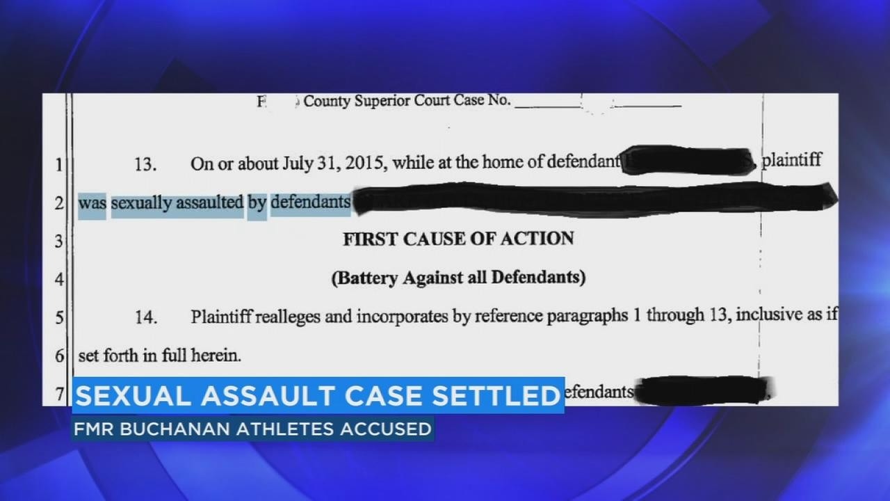 Settlement reached after Buchanan HS athletes accused of sexual assault