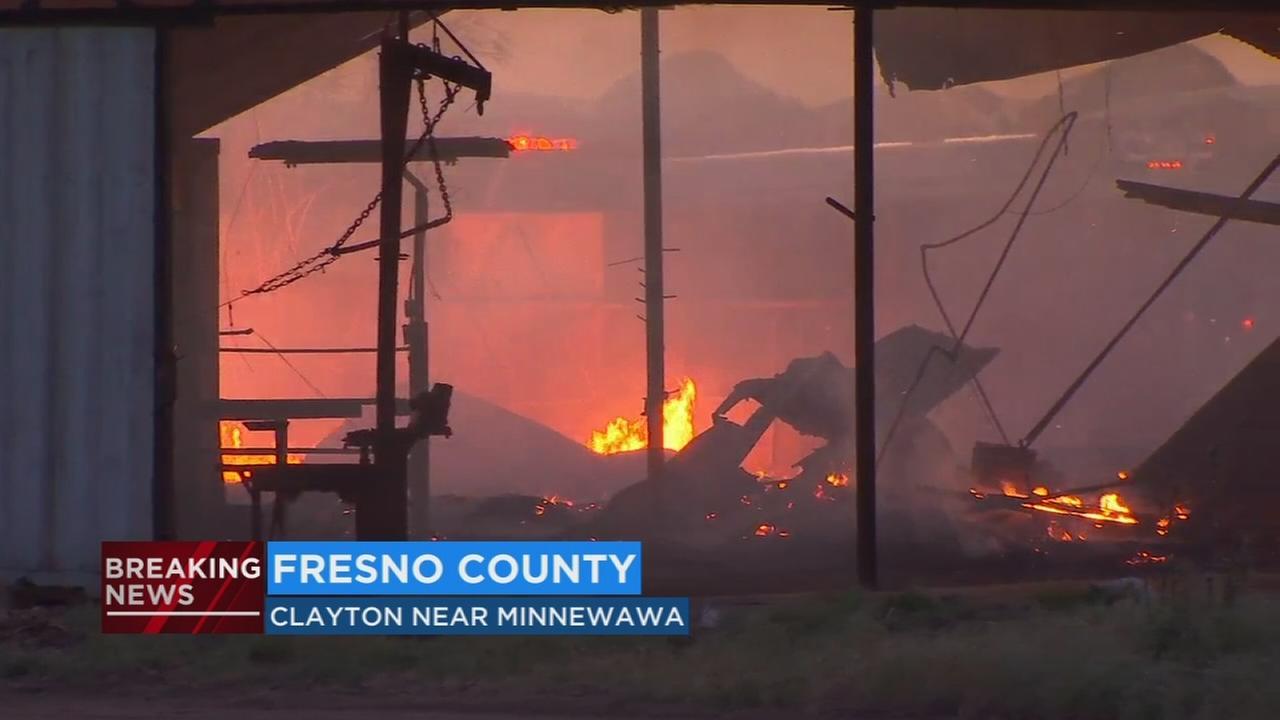 Fire engulfs house near Fowler