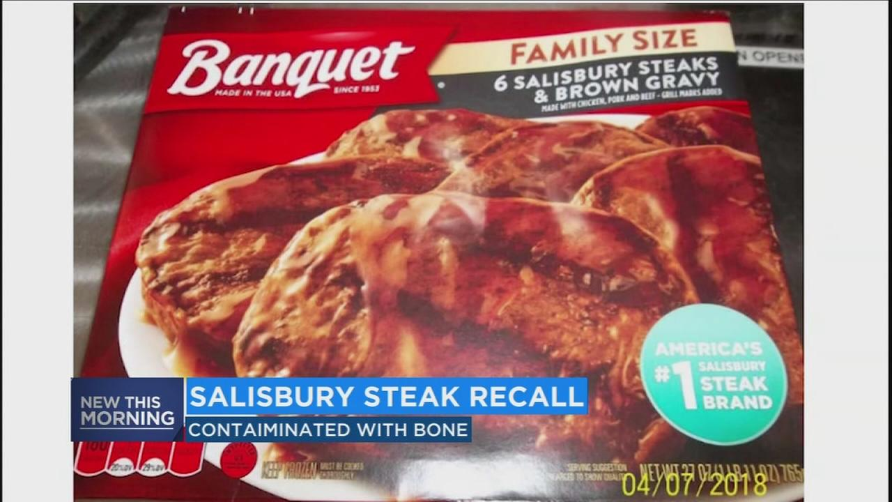 135,000 pounds of Salisbury steak recalled