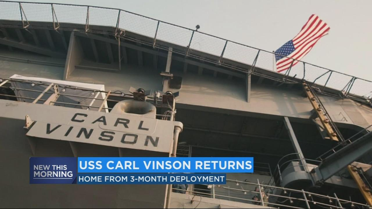 USS Carl Vinson returns to SoCal