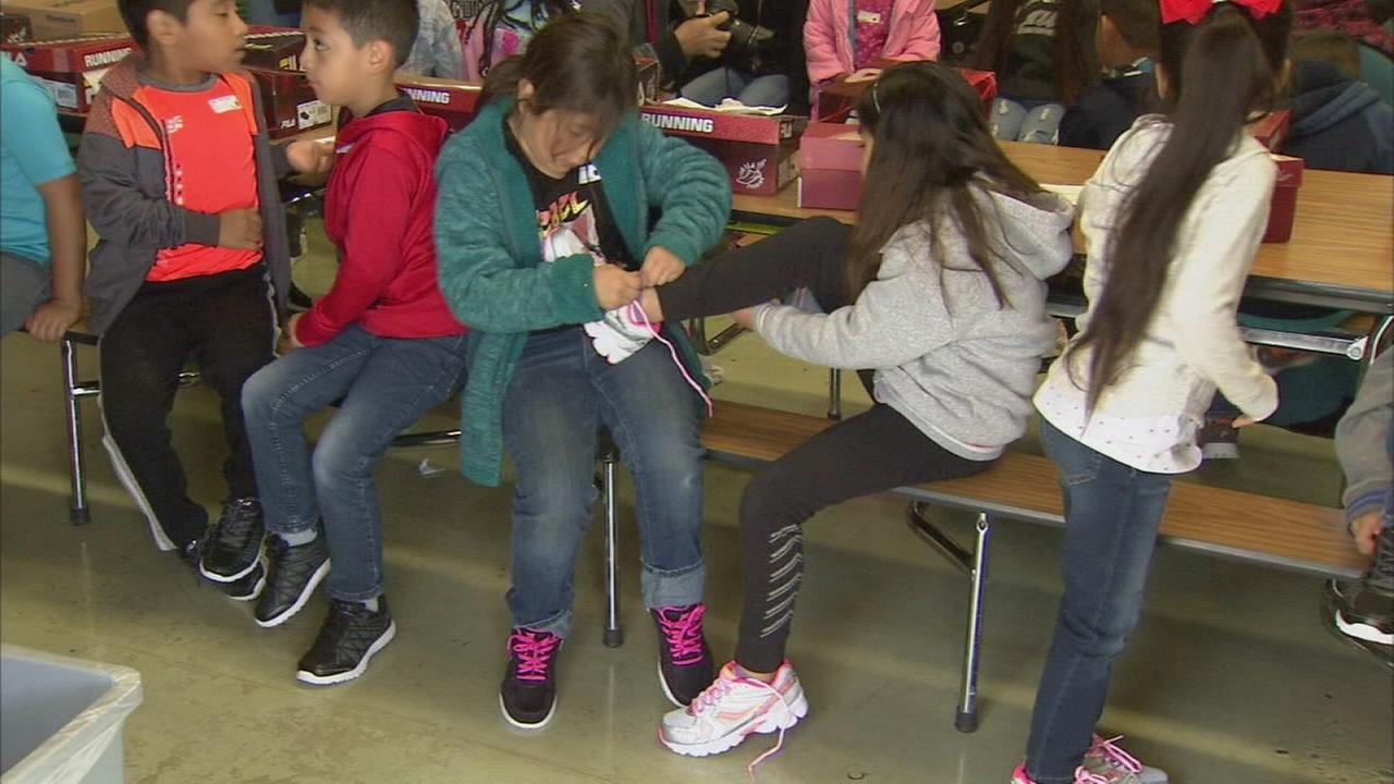 Non-profit gives news shoes, smile to underprivileged children in Central Fresno