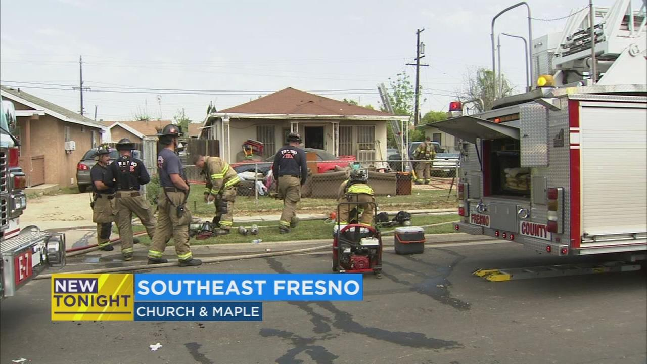 Woman safely escapes early morning house fire in SE Fresno