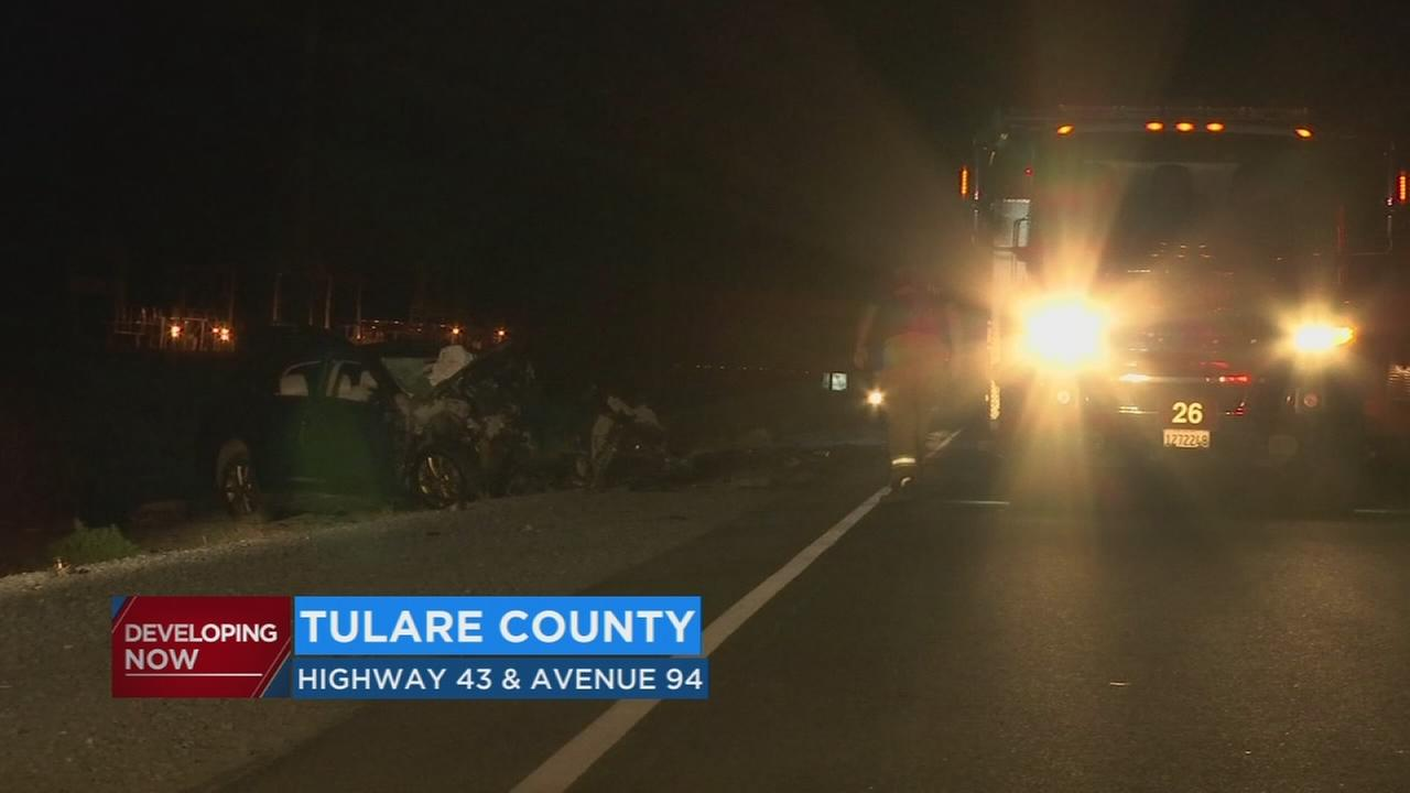 Investigation underway after 3 people died in head-on collision on Tulare highway