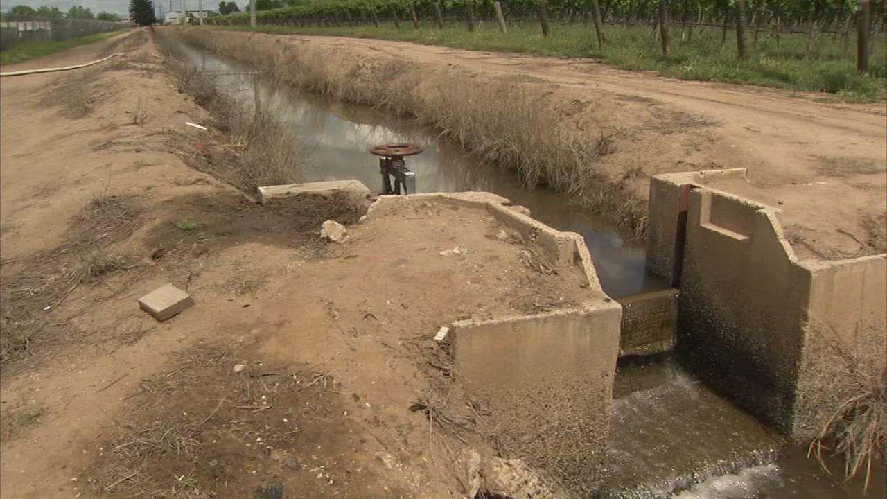 Fresno irrigation water deliveries begin as the skies opened up