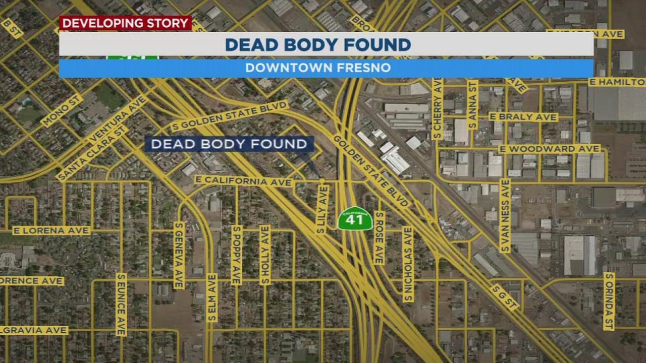 California highway patrol looking for clues after finding dead body in downtown Fresno
