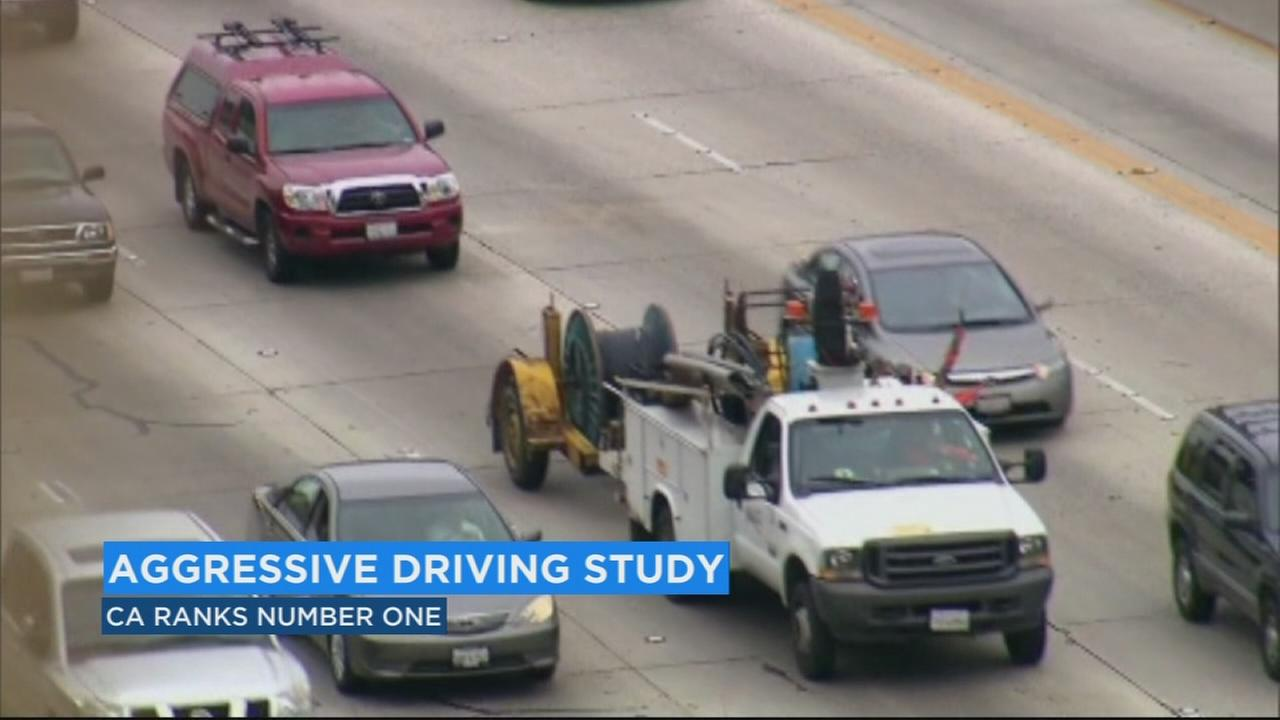 California ranks #1 in study about aggressive driving