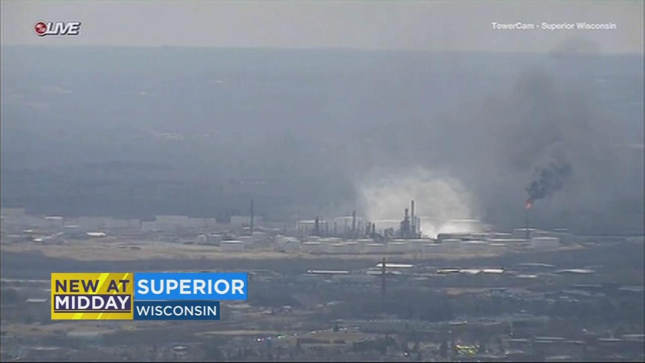 11 hurt in explosion at Wisconsin refinery