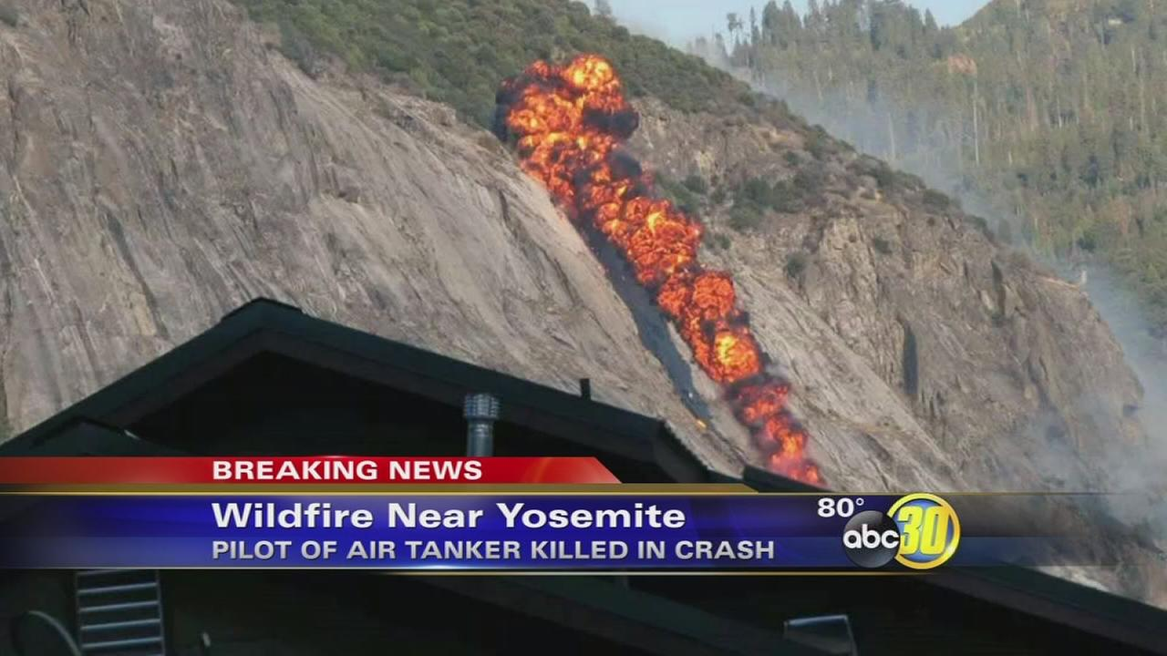 Pilot killed in Yosemite airtanker plane crash