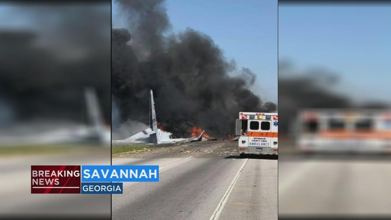 At least 5 killed in military cargo plane crash near airport in Georgia