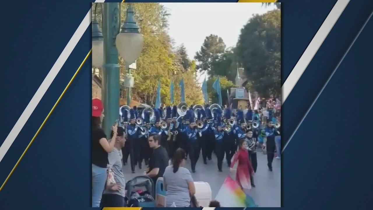 Bullard High band performs at Disneyland