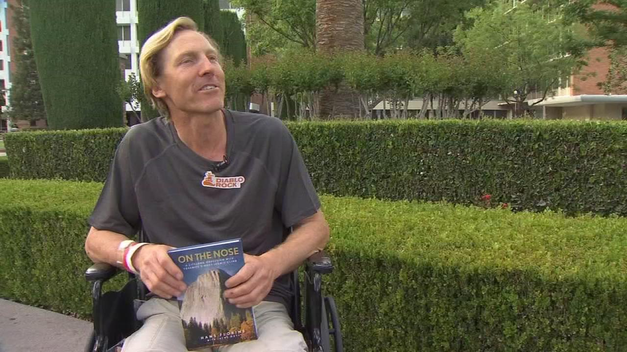 World renowned rock climber Hans Florine out from hospital after a fall off El Capitan
