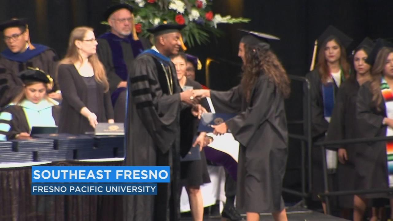Hundreds of undergrads turn their tassels during Fresno Pacifics graduation ceremony