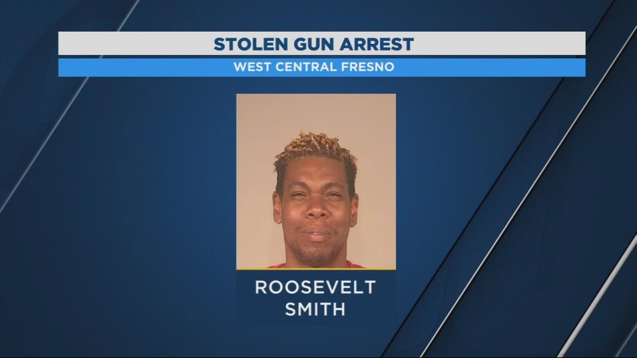 Man in custody after found with stolen gun in West Central Fresno